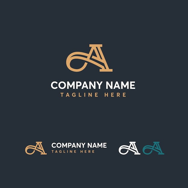 Buchstabe a logo vorlage Premium Vektoren