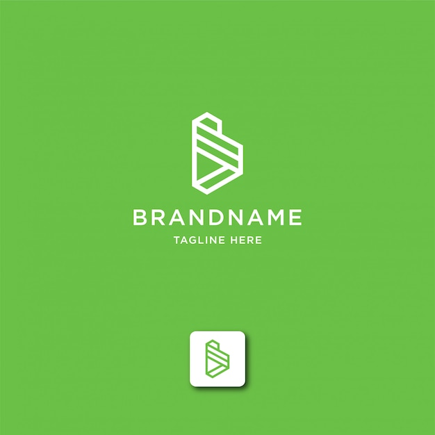 Buchstabe b abstrakte logo vorlage Premium Vektoren