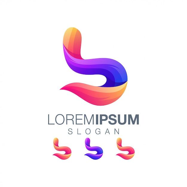 Buchstabe b farbverlauf logo Premium Vektoren