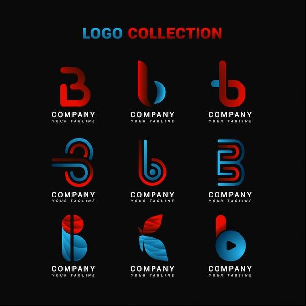 Buchstabe b logo collection Premium Vektoren