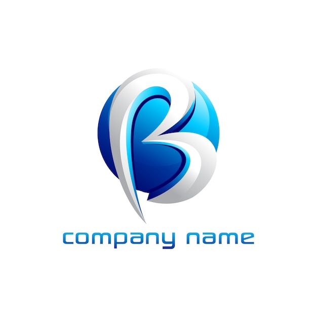 Buchstabe b logo design Premium Vektoren