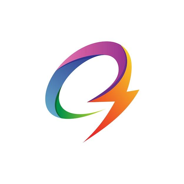 Buchstabe c donner logo vector Premium Vektoren