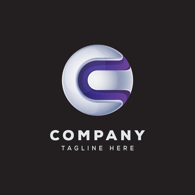Buchstabe c globus logo konzept premium vektor Premium Vektoren