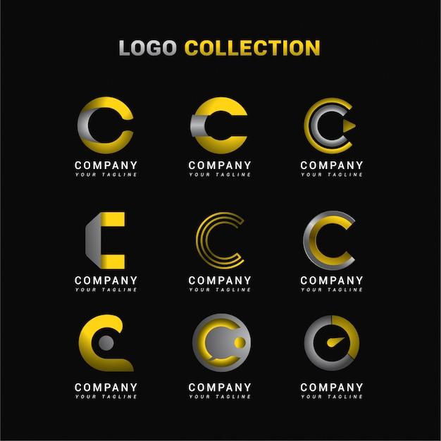 Buchstabe c logo collection Premium Vektoren