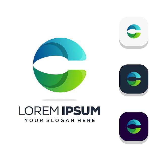 Buchstabe c logo design Premium Vektoren