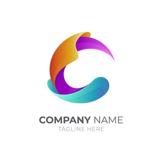 Buchstabe c logo vorlage design isoliert Premium Vektoren