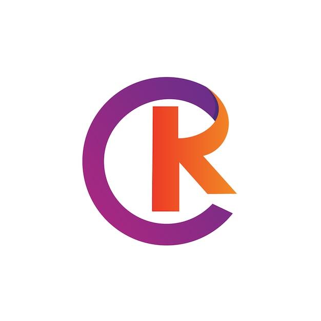 Buchstabe c und k logo vector Premium Vektoren
