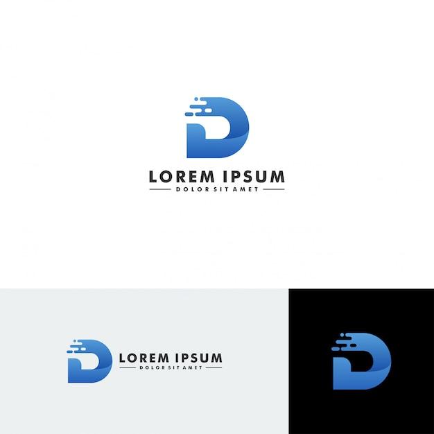 Buchstabe d logo vorlage Premium Vektoren