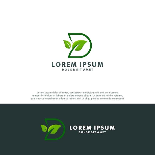 Buchstabe d-logo Premium Vektoren