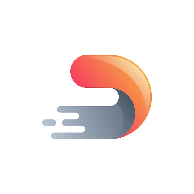 Buchstabe d-tech-logo Premium Vektoren