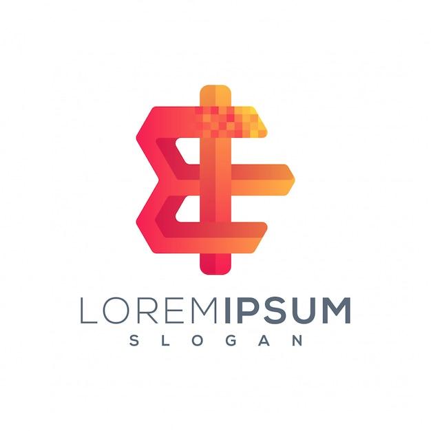 Buchstabe e pixel-logo Premium Vektoren