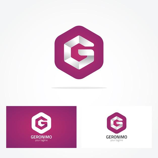 Buchstabe g geometrisches log-design Kostenlosen Vektoren