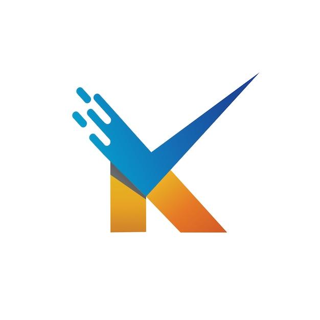 Buchstabe k checkliste logo vector Premium Vektoren