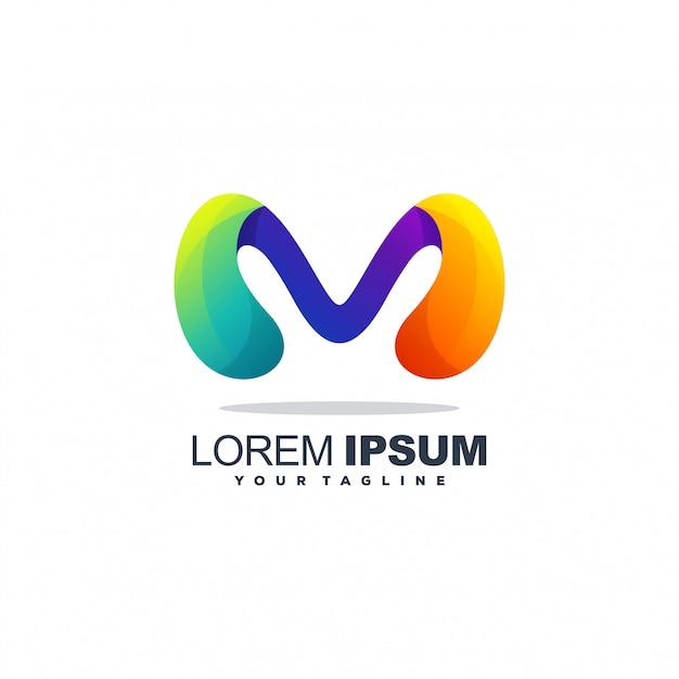 Buchstabe m abstrakte logo Premium Vektoren