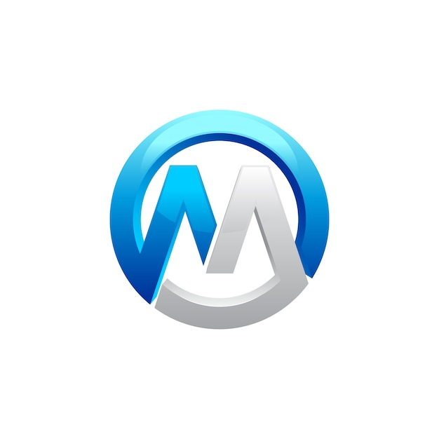 Buchstabe m logo design Premium Vektoren