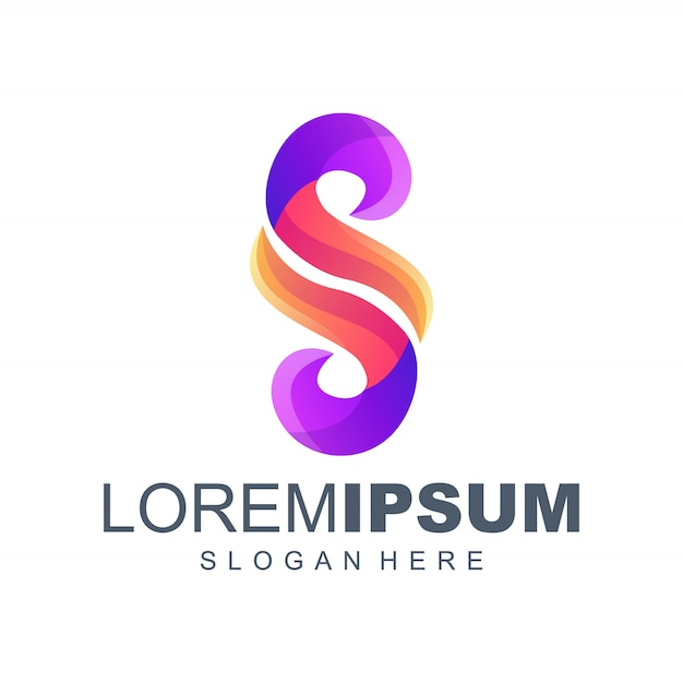 Buchstabe s farbverlauf logo-design Premium Vektoren