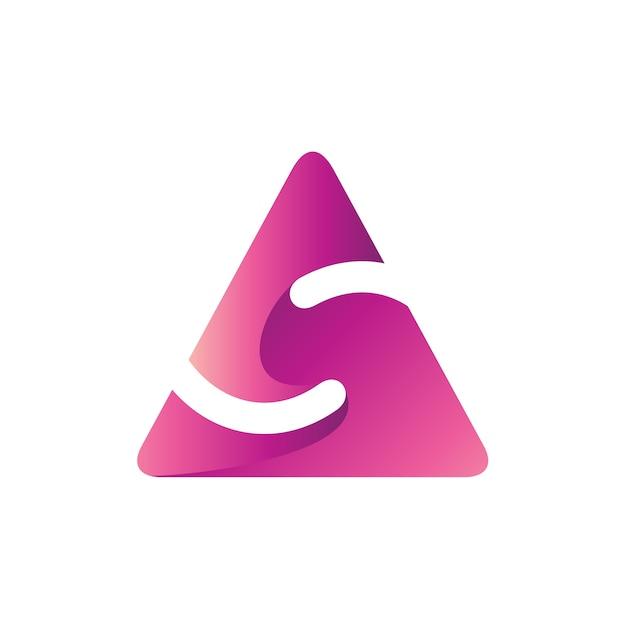 Buchstabe s in dreiecksform logo vorlage Premium Vektoren