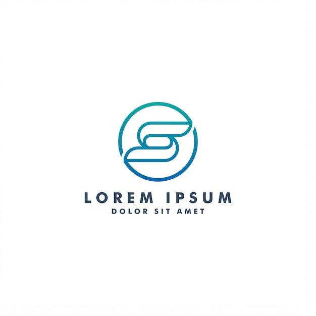 Buchstabe s logo icondesign Premium Vektoren