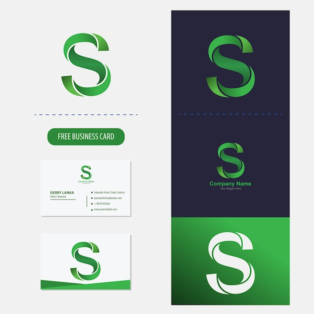 Buchstabe s-logo premium-vektor Premium Vektoren