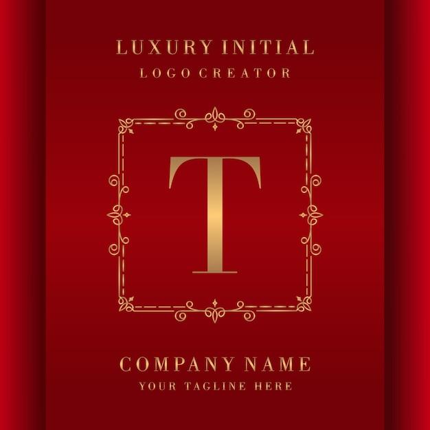 Buchstabe t luxus premium logo monogramm design Premium Vektoren