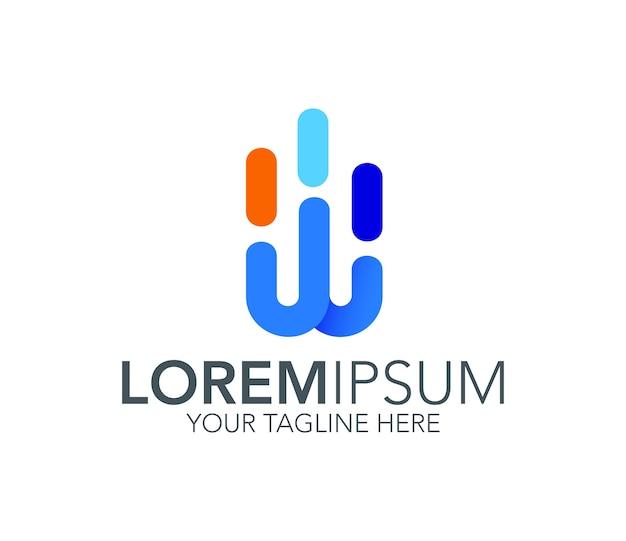 Buchstabe w logo symbol Premium Vektoren
