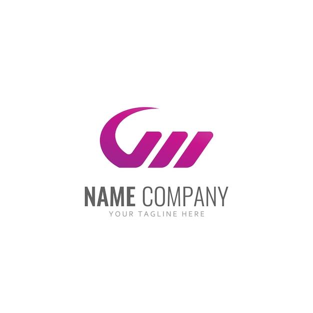 Buchstabe w logo vektor Premium Vektoren