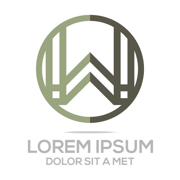 Buchstaben W Circle Logo Vorlage | Download der Premium Vektor