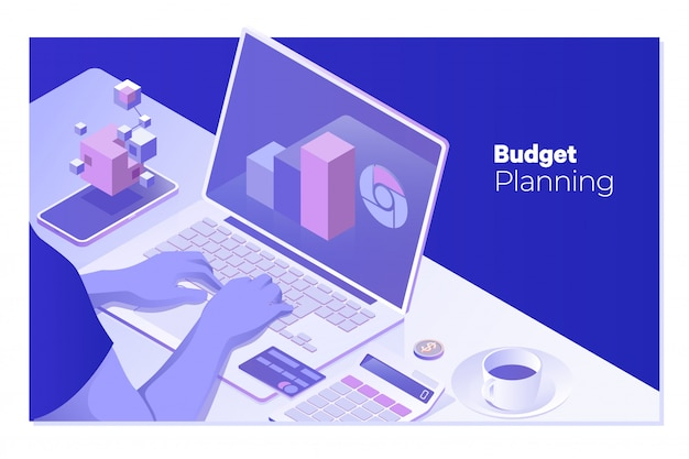 Budgetplanung Premium Vektoren