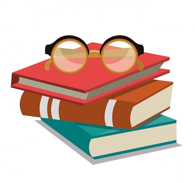 Bücher lesen design Kostenlosen Vektoren