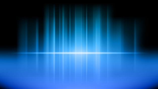 Bühne und präsentation des produktes auf blau Premium Vektoren