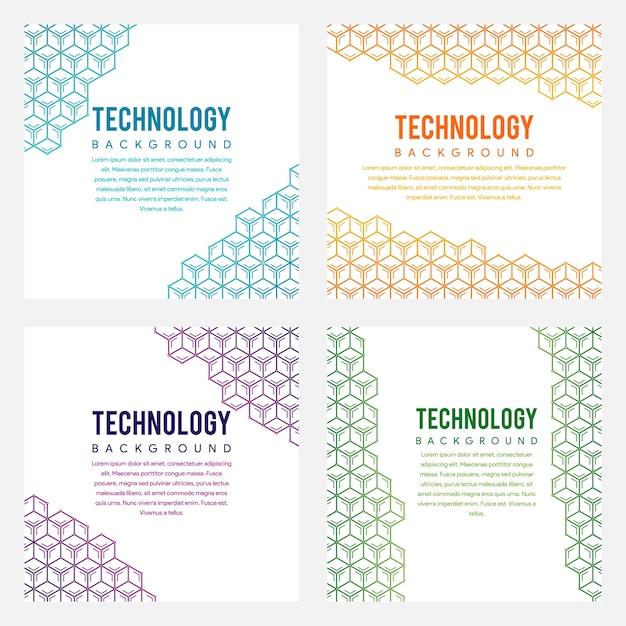 Bündel des hexagonkonzeptes für hintergrund Premium Vektoren