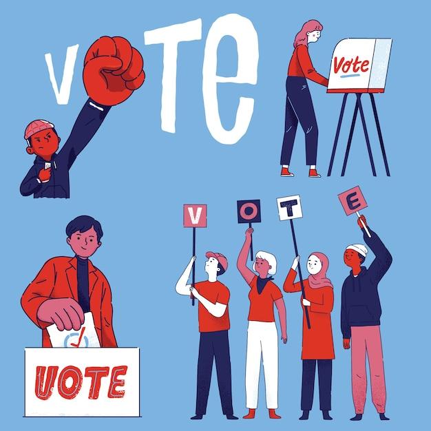 Bürgergruppe wählen Kostenlosen Vektoren