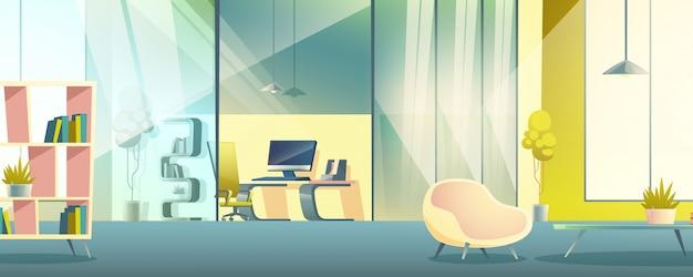Büro arbeitsschrank cartoon innenraum Kostenlosen Vektoren