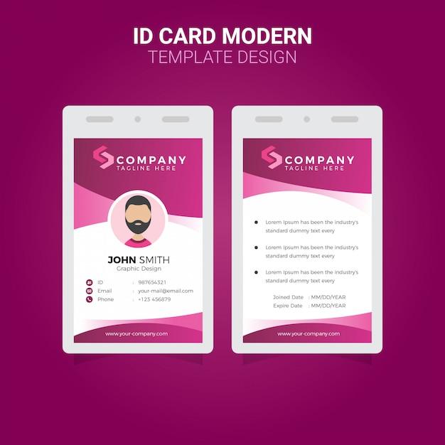 Büro-ausweis moderner einfacher firmenkundengeschäftschablonendesign-prämienvektor Premium Vektoren