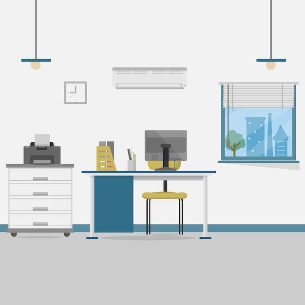 Büro-hintergrund-design Kostenlosen Vektoren