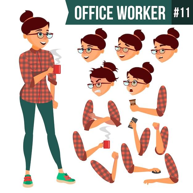 Büroangestellter Premium Vektoren