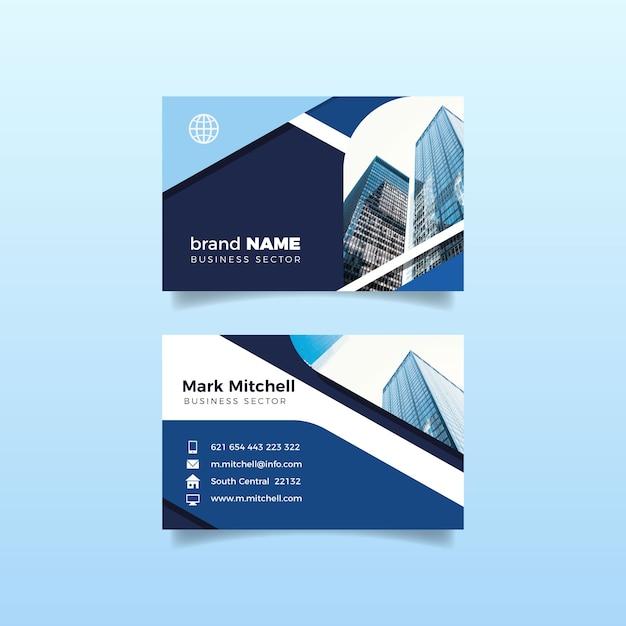 Bürogebäudeentwurf für visitenkarte Kostenlosen Vektoren