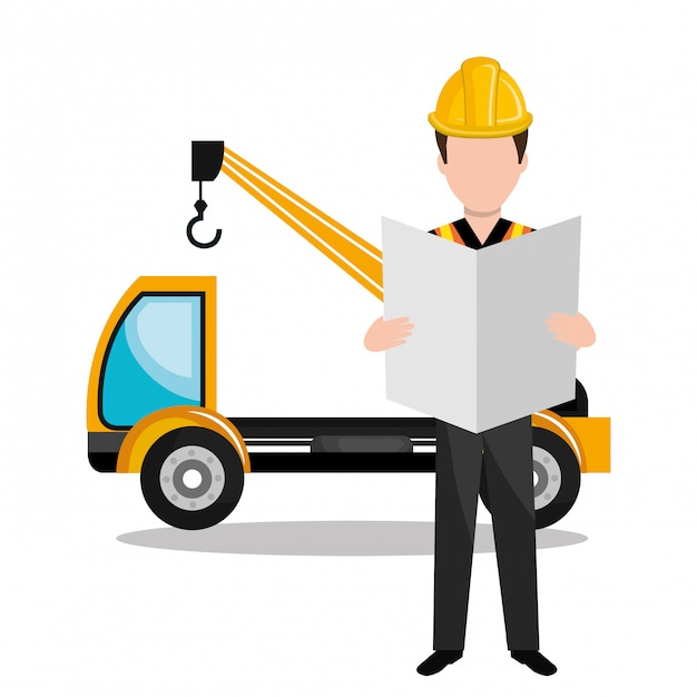 Builder-konstruktor-arbeiter-symbol Premium Vektoren