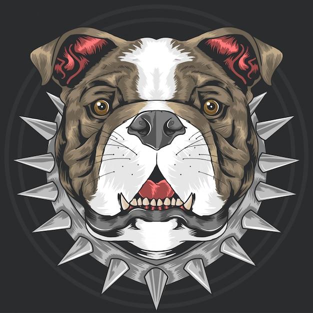 Bull dog pit bull Premium Vektoren