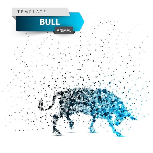 Bull punkt abbildung Premium Vektoren