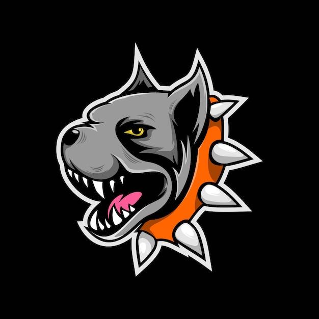 Bulldog maskottchen logo Premium Vektoren