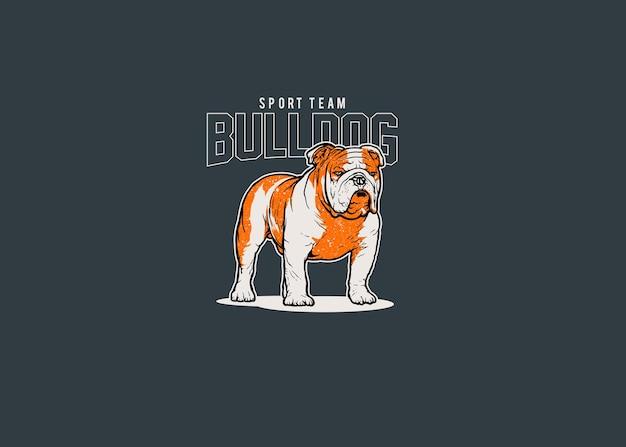 Bulldog sport team maskottchen logo illustration Premium Vektoren