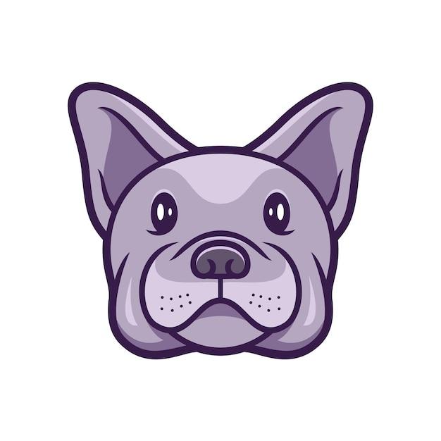 Bulldogge französischer hund Premium Vektoren