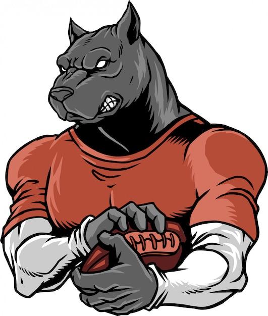Bulldogge fußball Premium Vektoren