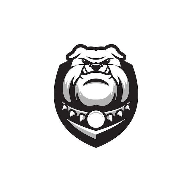 Bulldogge logo design Premium Vektoren