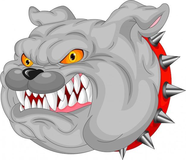 Bulldogge-maskottchen-cartoon Premium Vektoren