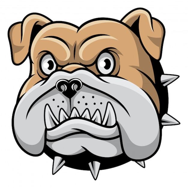 Bulldoggekopf-maskottchen-vektorillustration Premium Vektoren