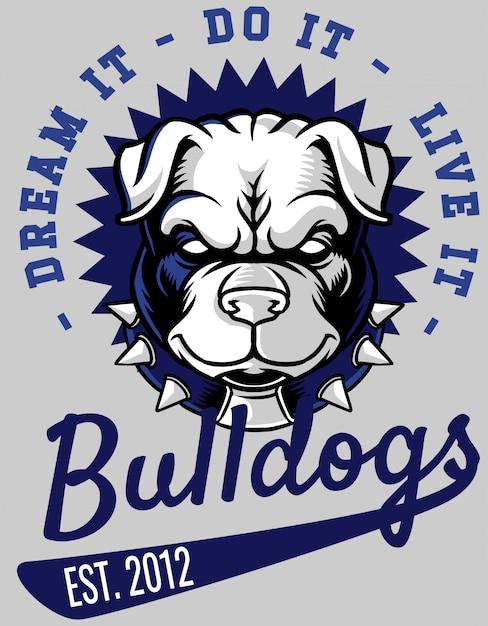 Bulldoggen Premium Vektoren