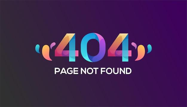Bunte 404-fehlervorlage Premium Vektoren