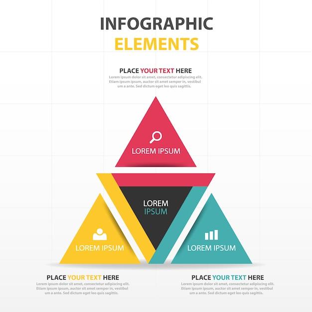 Bunte abstrakte Dreieck Geschäft Infografik-Vorlage | Download der ...